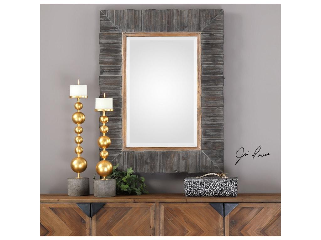 Uttermost MirrorsMancos Rustic Wood Mirror