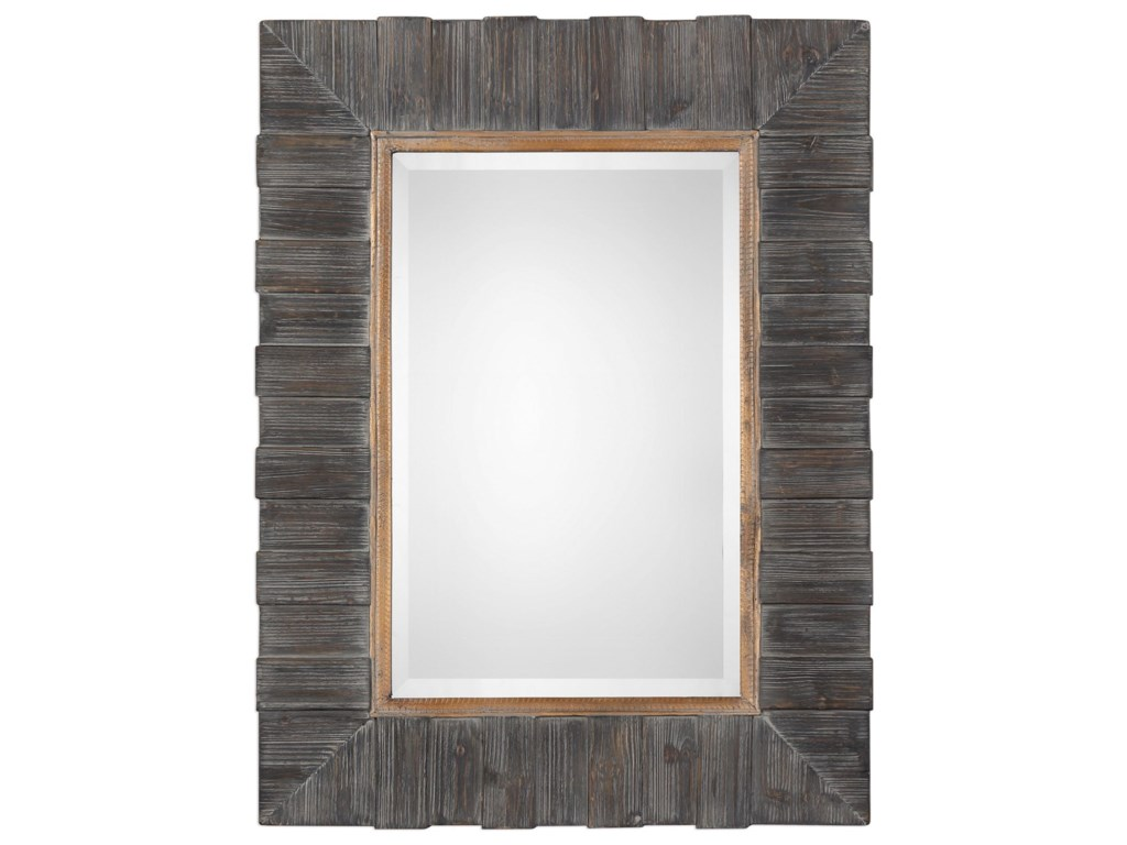 Uttermost MirrorsMancos Rustic Wood Mirror