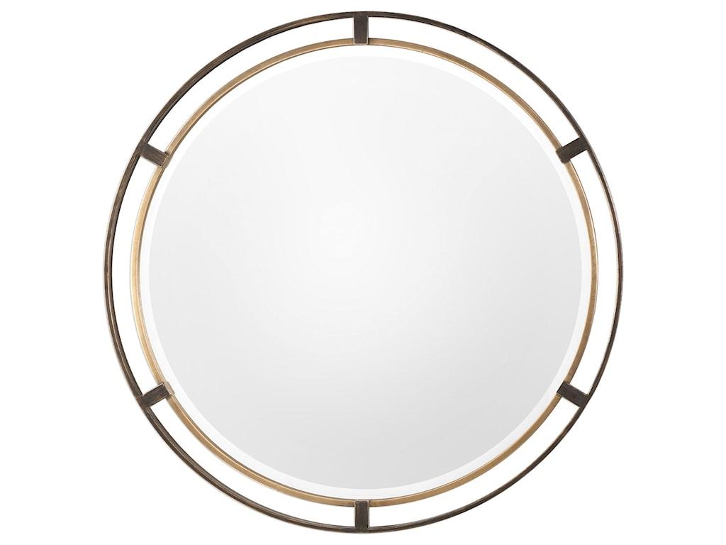 Uttermost Mirrors - RoundCarrizo Bronze Round Mirror