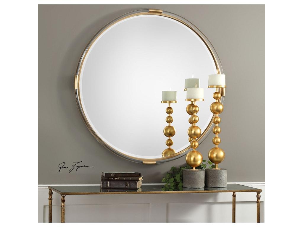 Uttermost Mirrors - RoundMackai Round Gold Mirror