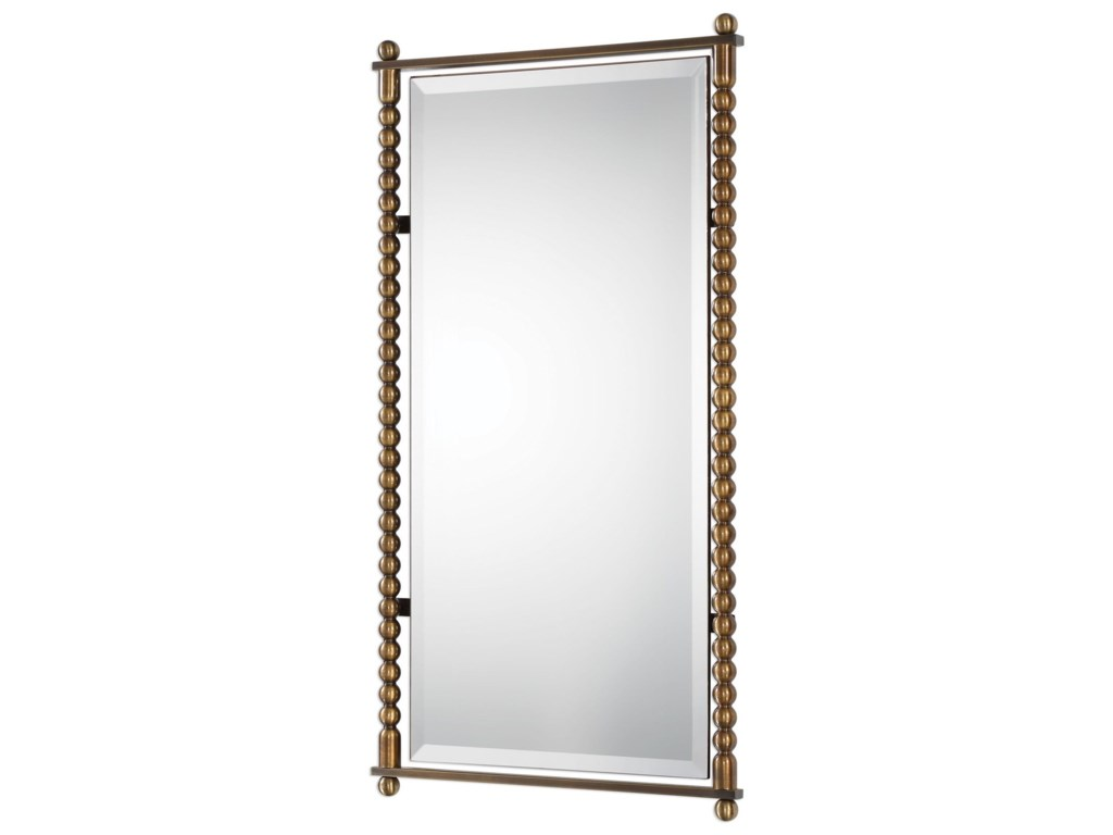 Uttermost MirrorsRosabel Antique Brass Rectangle Mirror