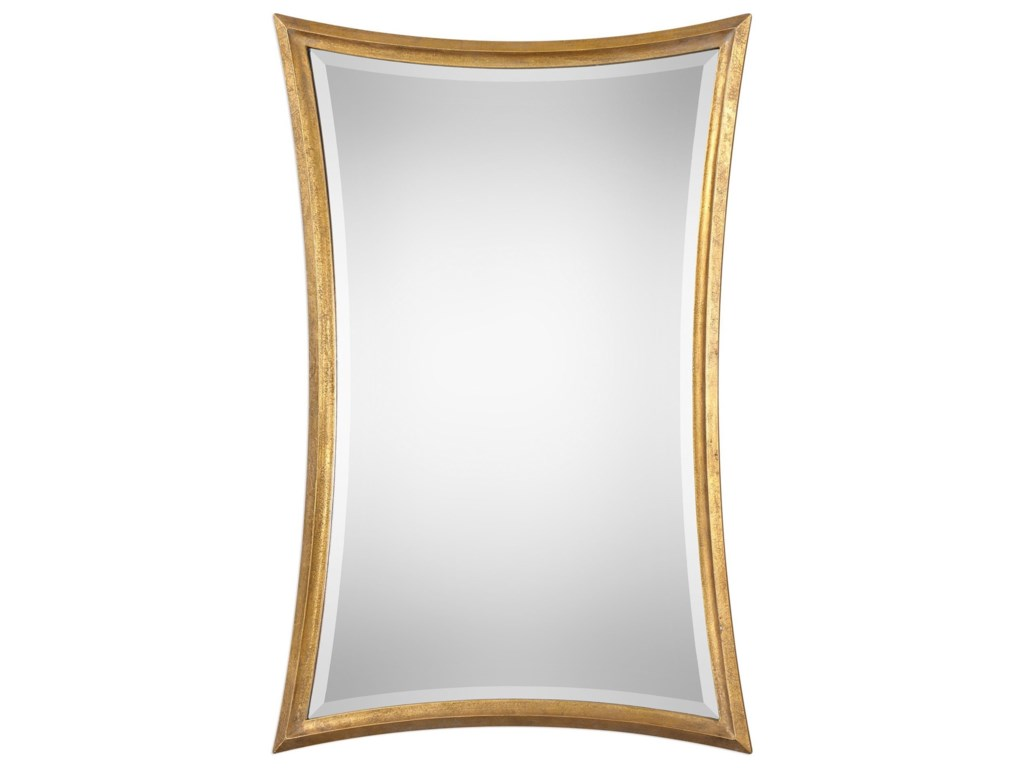 Uttermost MirrorsVermejo Scalloped Gold Mirror
