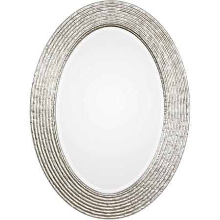 Conder Oval Silver Mirror