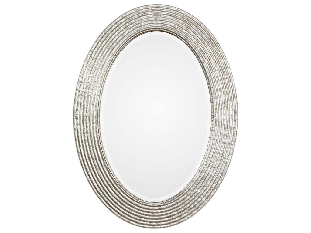 Uttermost Mirrors 09356 Conder Oval Silver Mirror Dunk Bright