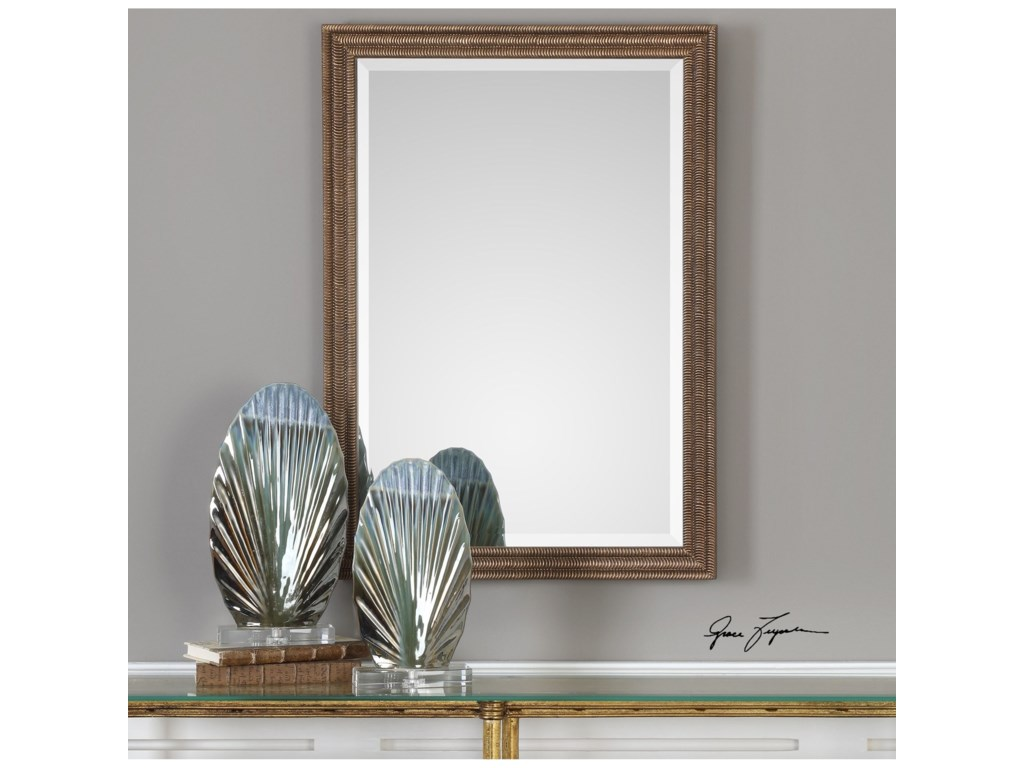 Uttermost MirrorsRydal Distressed Bronze Mirror