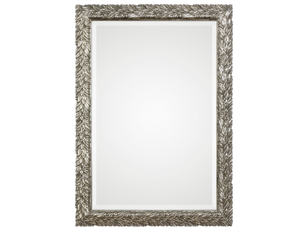 Uttermost MirrorsEvelina Silver Leaves Mirror