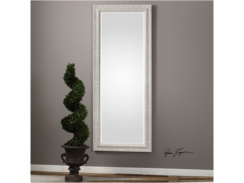 Uttermost MirrorsPateley Aged White Wood Mirror