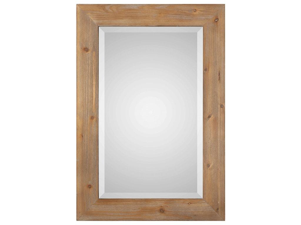 Uttermost MirrorsBullock Solid Natural Wood Mirror