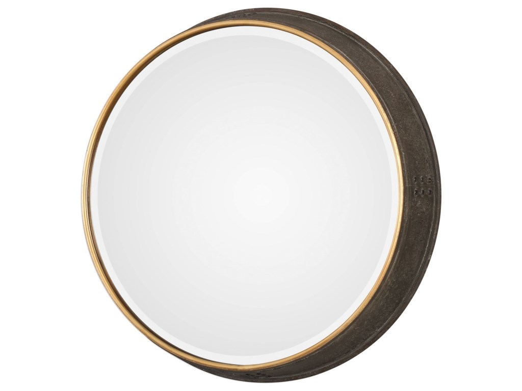 Uttermost MirrorsSturdivant Antiqued Gold Round Mir
