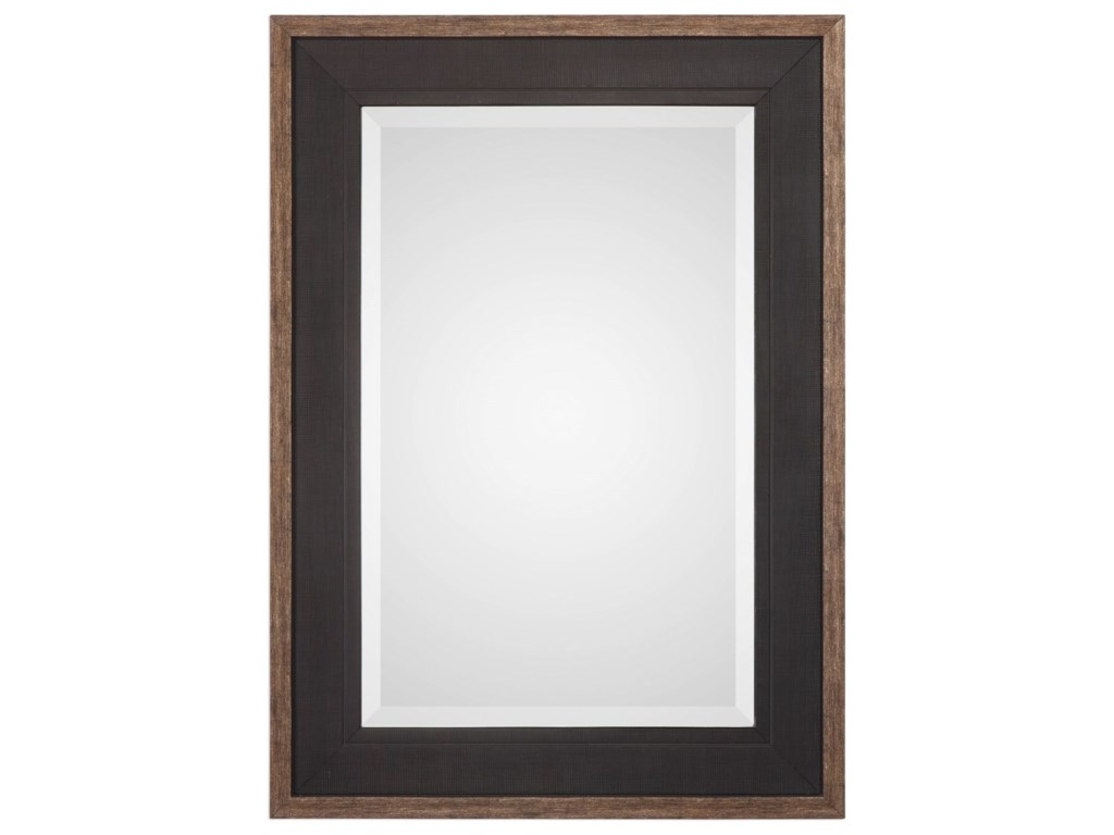 Uttermost MirrorsStaveley Rustic Black Mirror