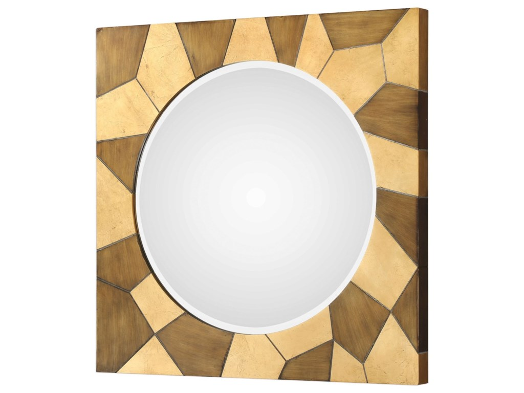 Uttermost MirrorsUssana Patterned Wood Mirror