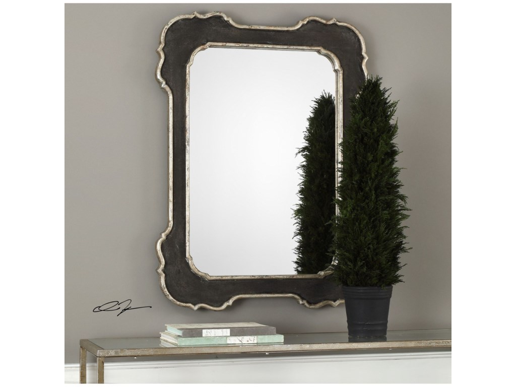 Uttermost MirrorsBellano Aged Black Mirror