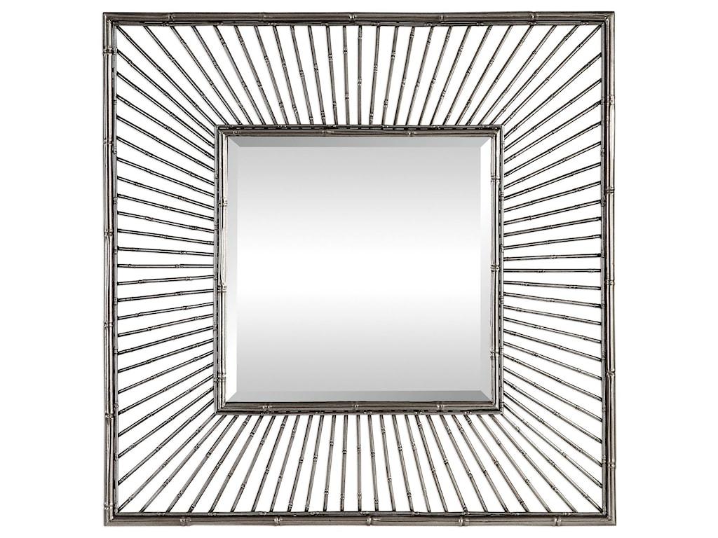 Uttermost MirrorsAnji Silver Square Mirror