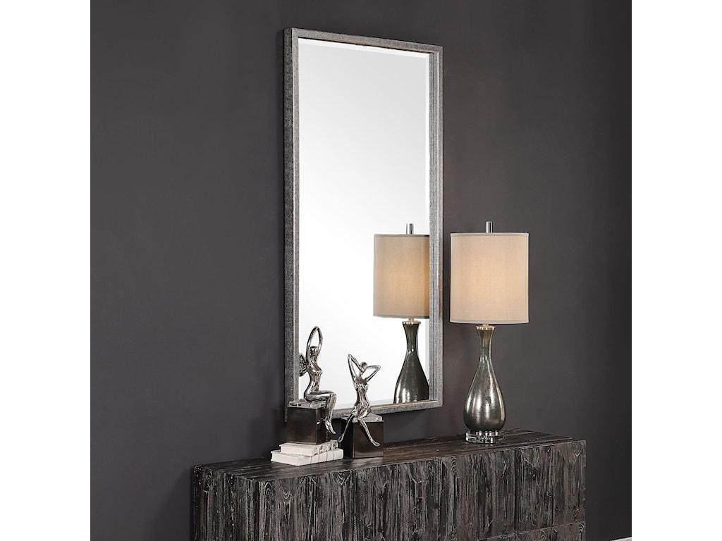 Uttermost MirrorsGabelle Metallic Silver Mirror
