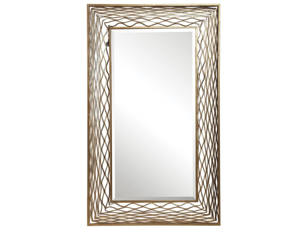 Uttermost MirrorsGaltero Rectangle Gold Mirror
