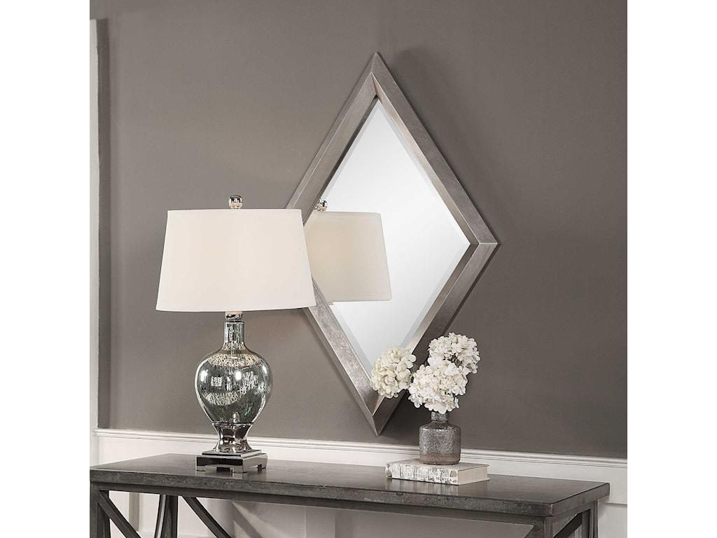 Uttermost MirrorsDiamante Silver Mirror