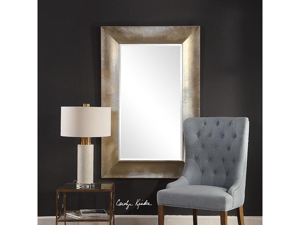 Uttermost MirrorsValenton Large Champagne Mirror