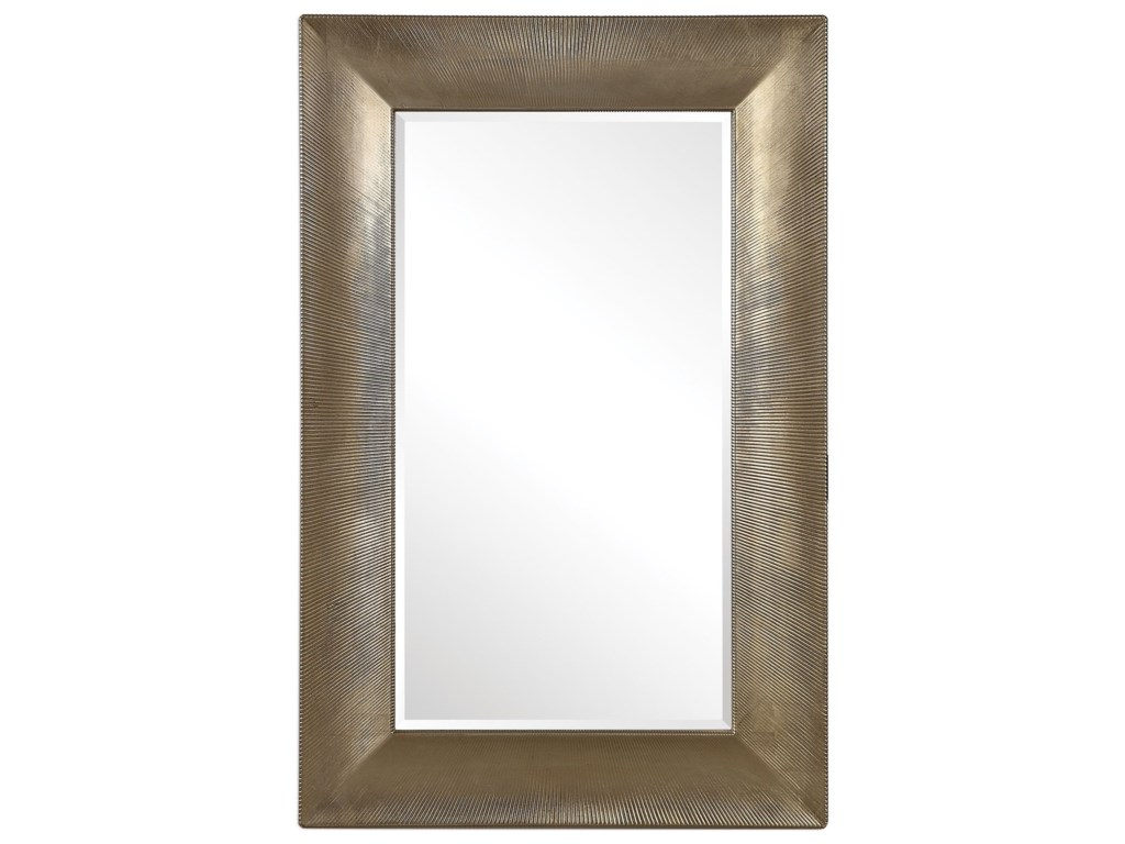Uttermost Mirrors Valenton Large Champagne Mirror | Sheely's Furniture &  Appliance | Wall Mirrors
