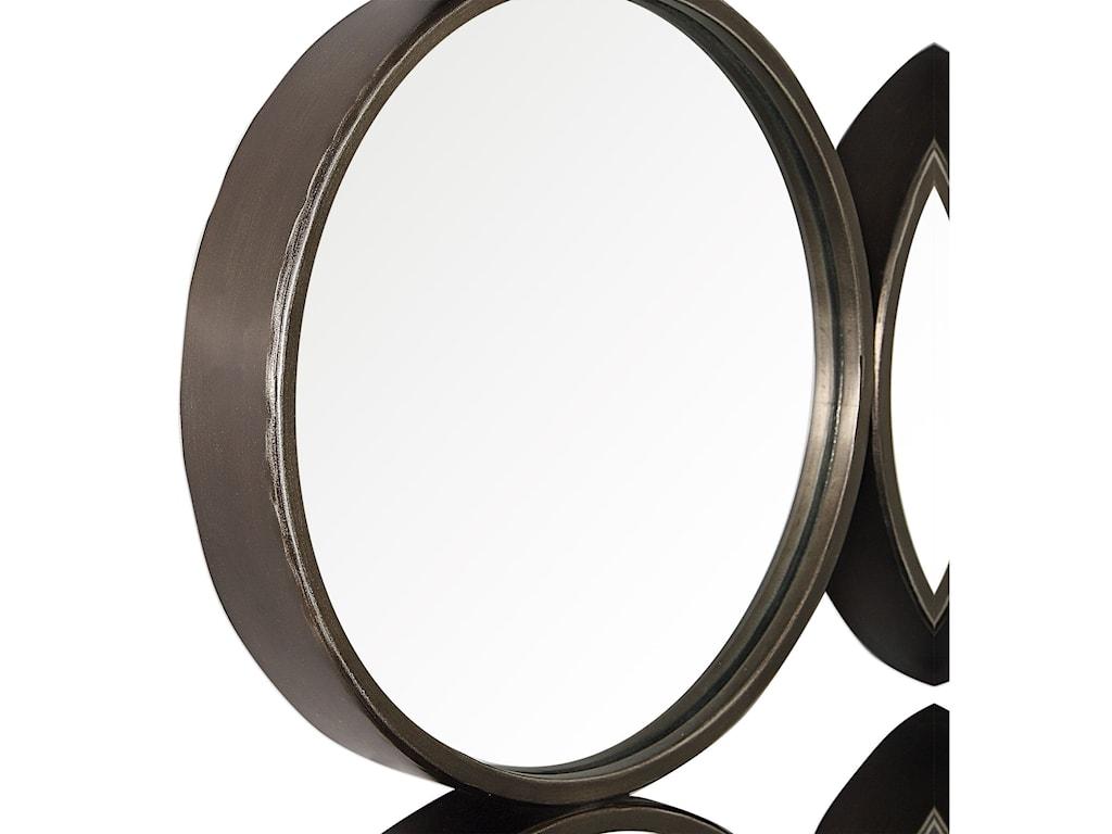 Uttermost Mirrors - RoundDevet Welded Iron Rings Mirror