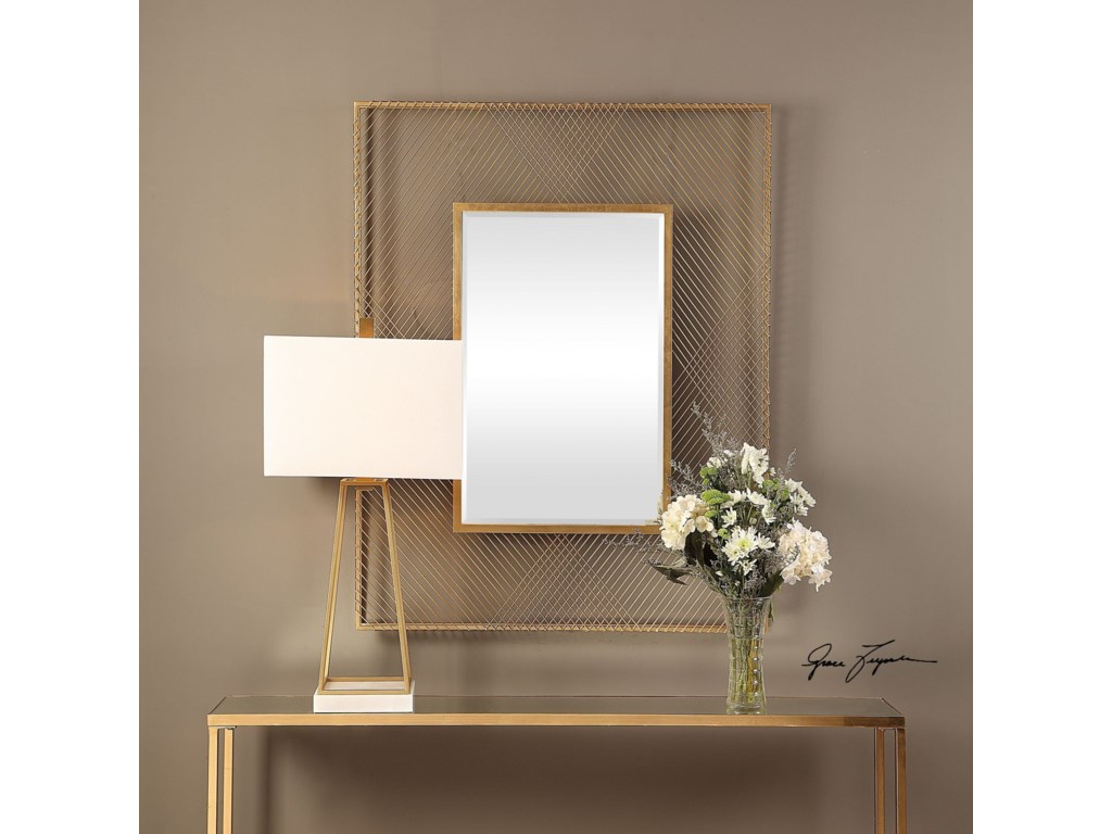 Uttermost MirrorsBavol Metallic Gold Mirror
