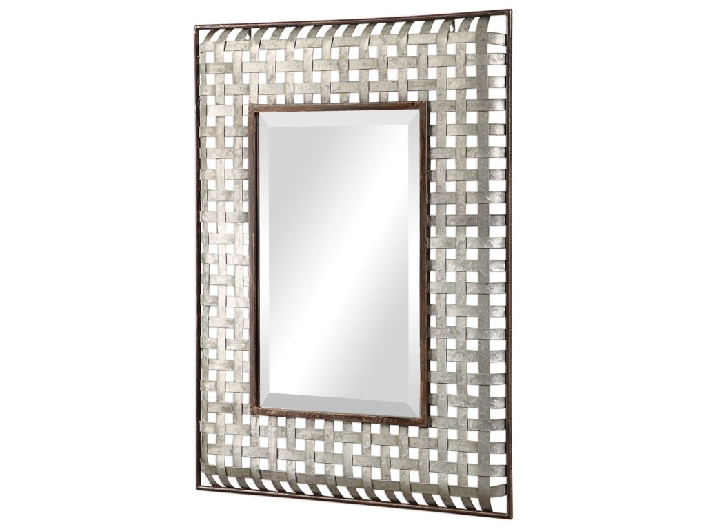 Uttermost MirrorsFabelle Galvanized Metal Mirror