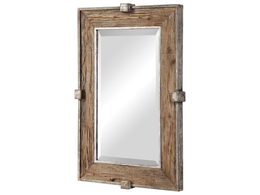 Uttermost MirrorsSiringo Weathered Wood Mirror