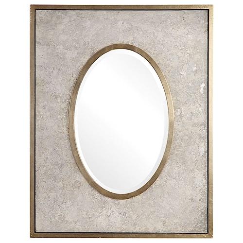 29031996187 Uttermost Mirrors Gabbriel Aged Oval Mirror