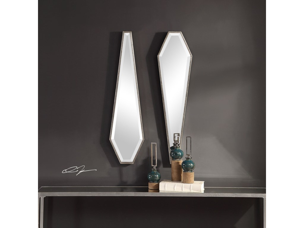 Uttermost MirrorsSabera Modern Silver Mirror, S/2