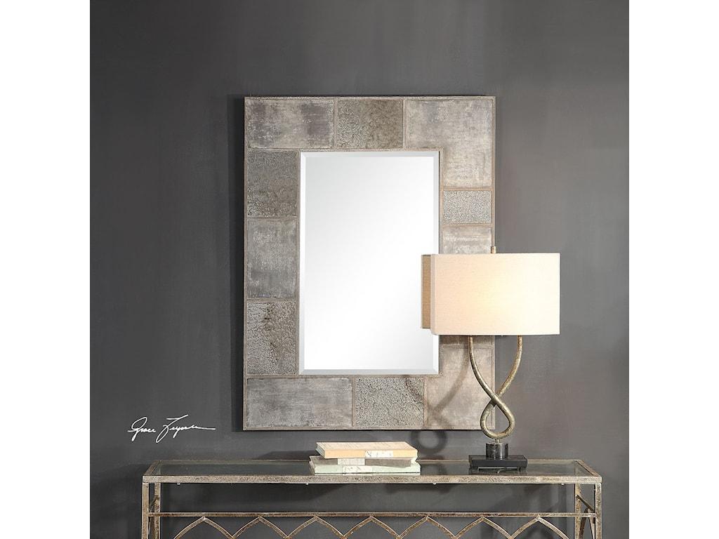 Uttermost MirrorsTaelon Metal Panel Mirror