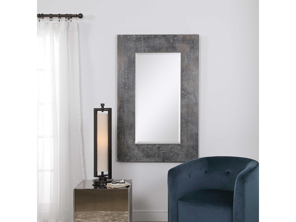 Uttermost MirrorsJarrell Galvanized Metal Mirror