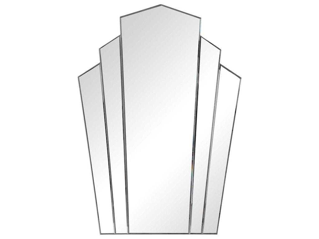 Uttermost MirrorsInez Art Deco Frameless Mirror
