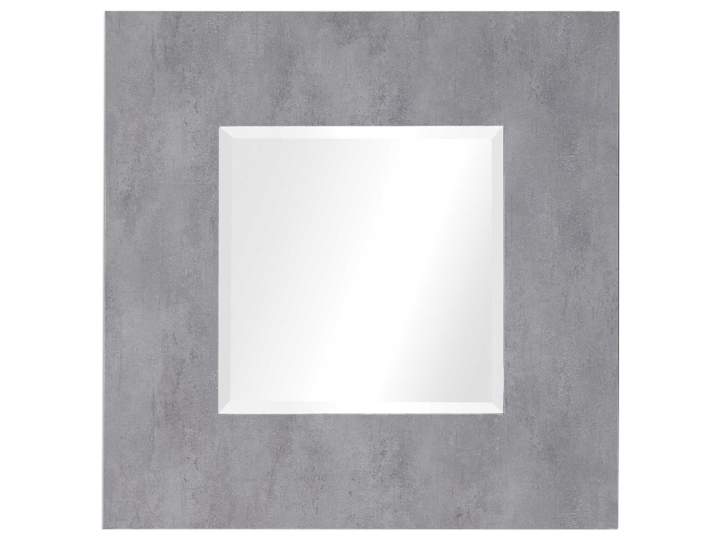 Uttermost MirrorsRohan Light Gray Square Mirror