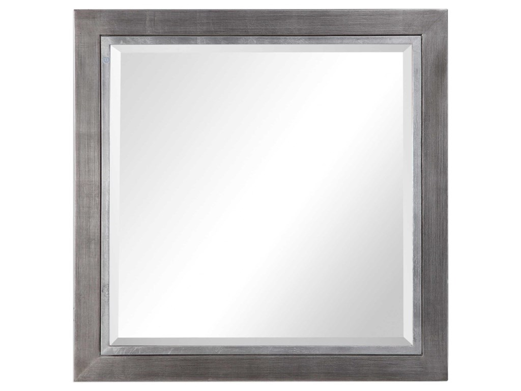 Uttermost MirrorsMoore Silver Square Mirror