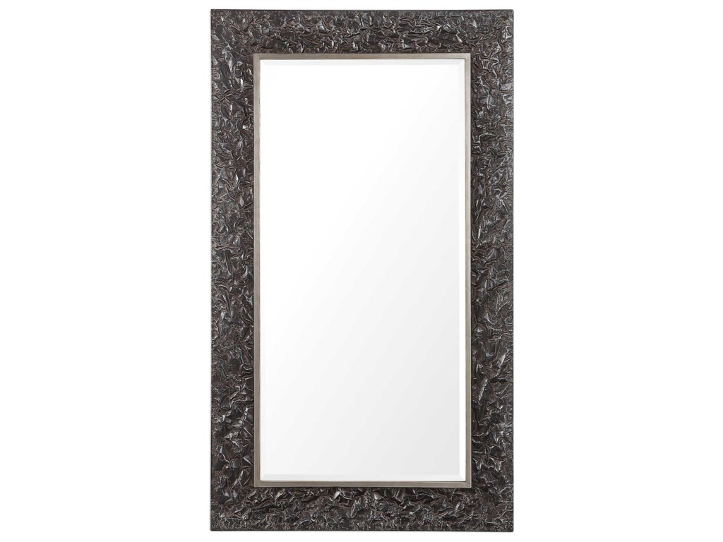 Uttermost MirrorsAxel Textured Steel Large Mirror