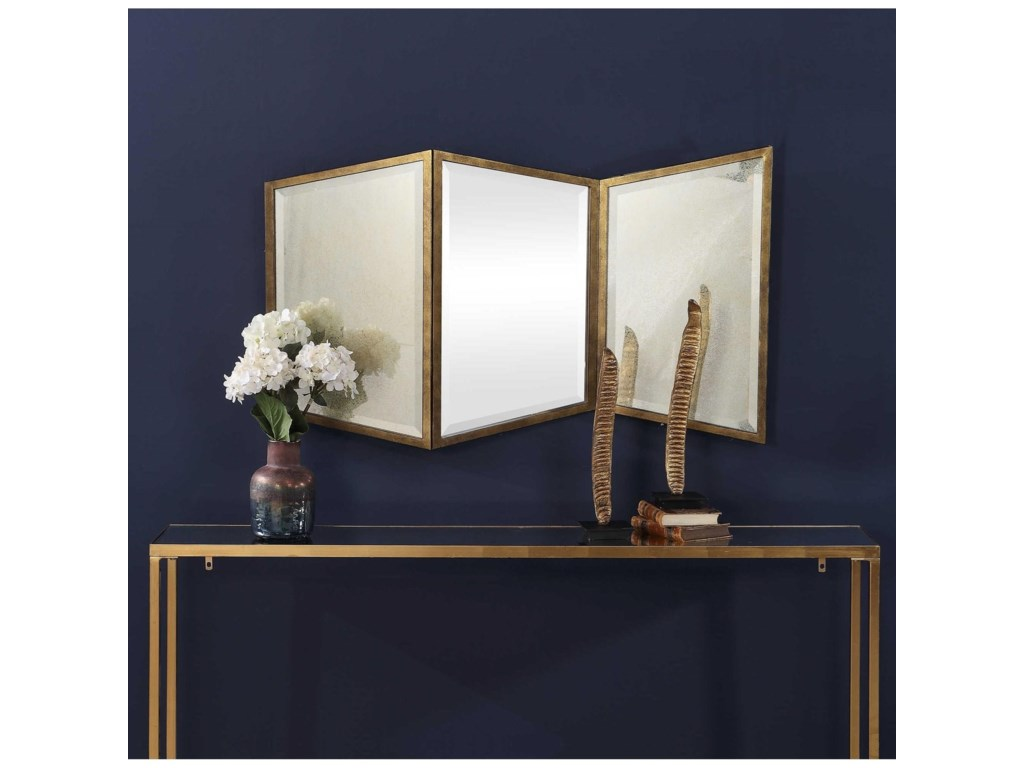 Uttermost MirrorsViva Gold Geometric Mirror