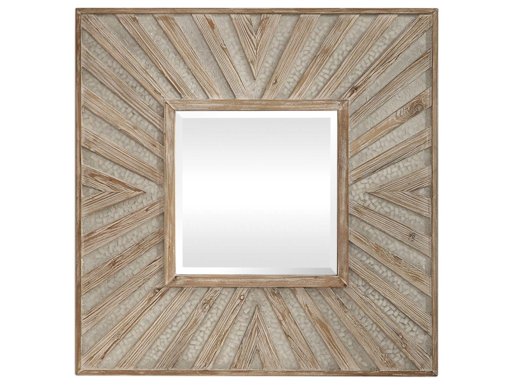 Uttermost MirrorsGideon Wood & Ivory Square Mirror