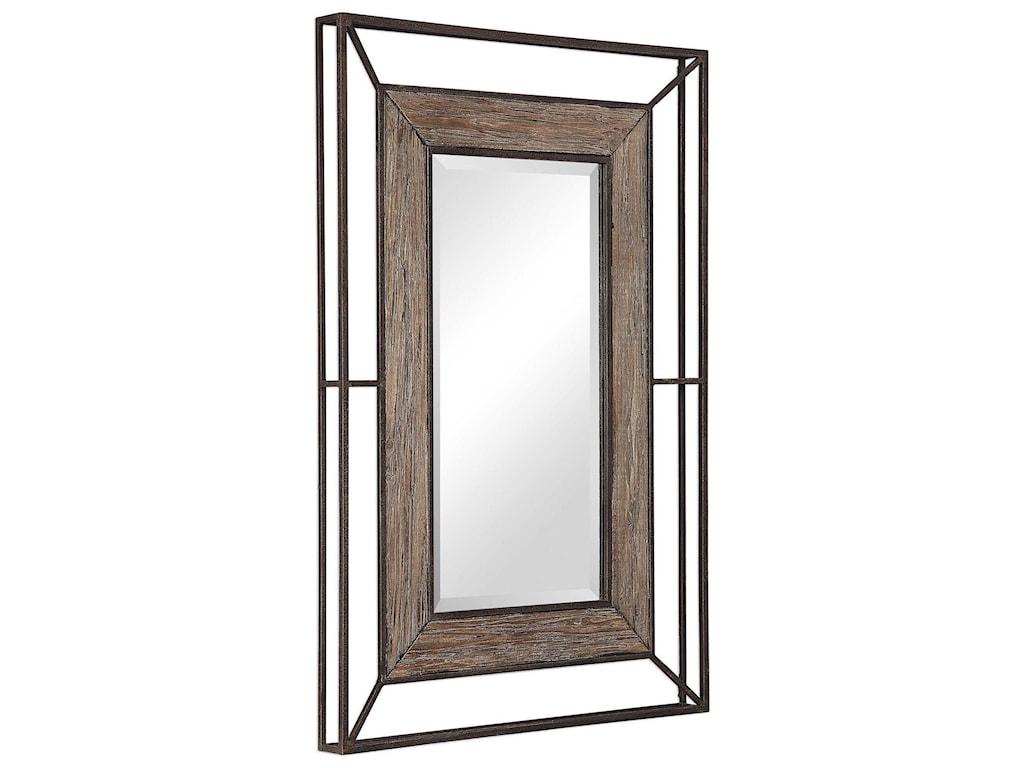Uttermost MirrorsWard Open Framed Wood Mirror