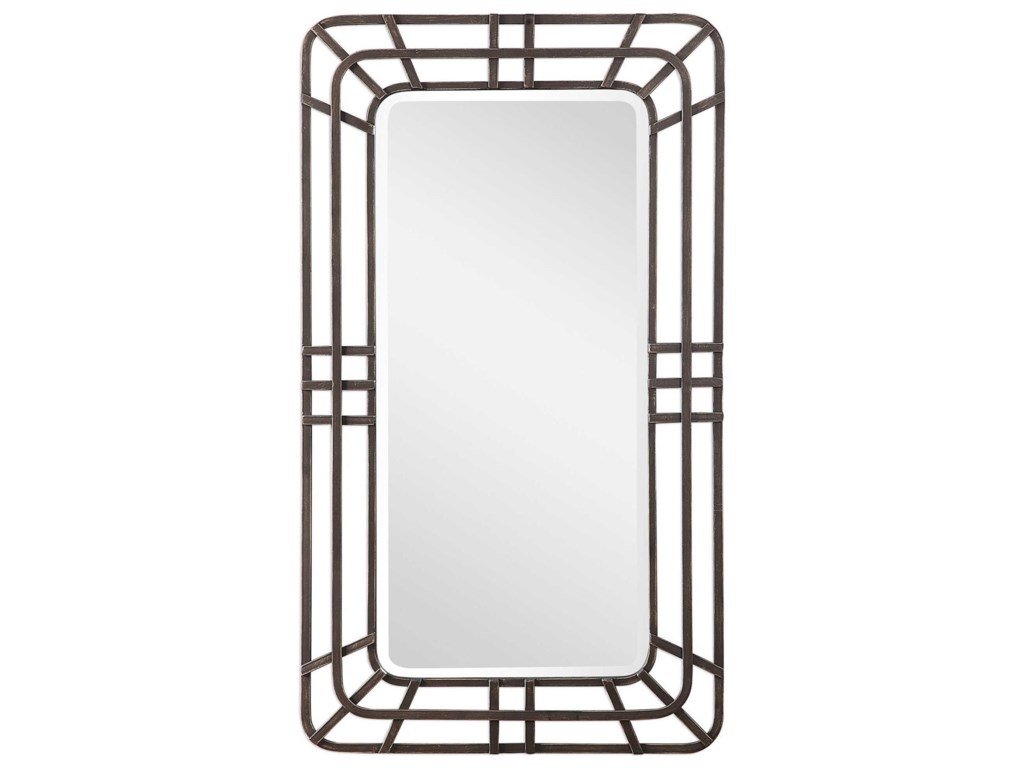 Uttermost MirrorsAlston Open Framed Iron Mirror