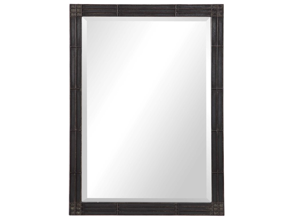 Uttermost MirrorsGower Aged Black Vanity Mirror