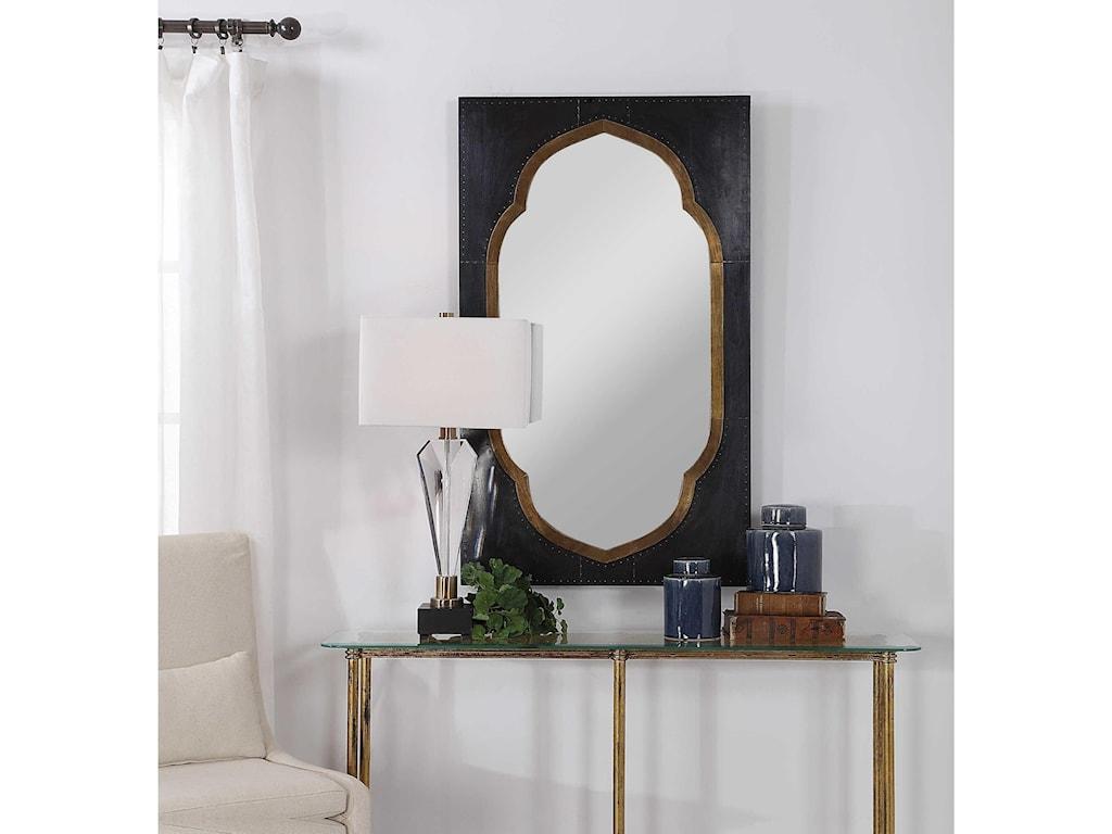 Uttermost MirrorsShanti Moroccan Bronze Mirror