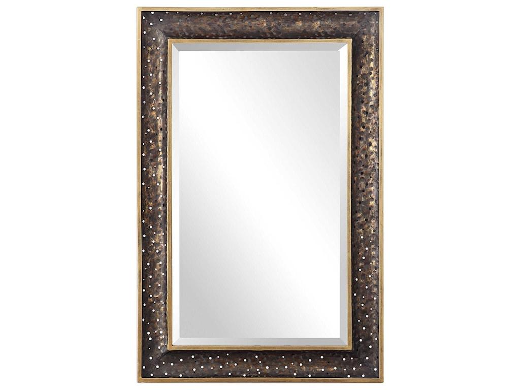 Uttermost MirrorsMauro Rustic Bronze Mirror