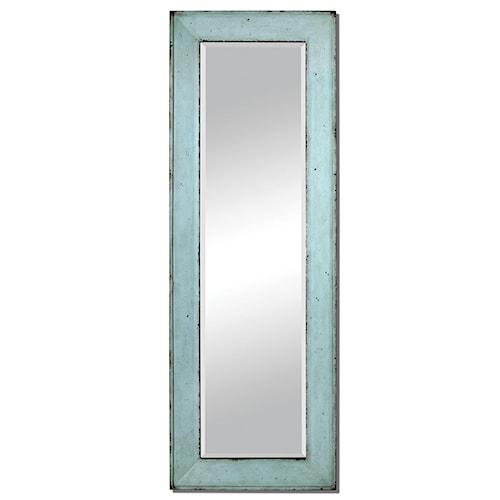 Uttermost Mirrors Chasity Light Blue Leaner Mirror