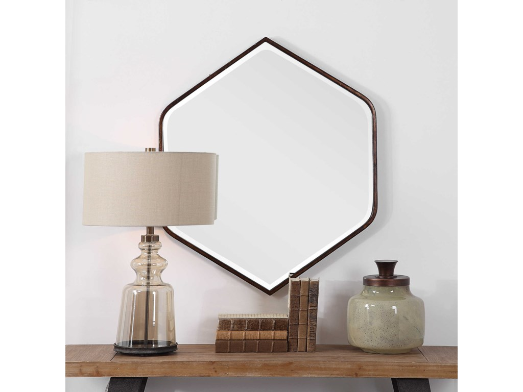 Uttermost MirrorsMagda Hexagon Wall Mirror