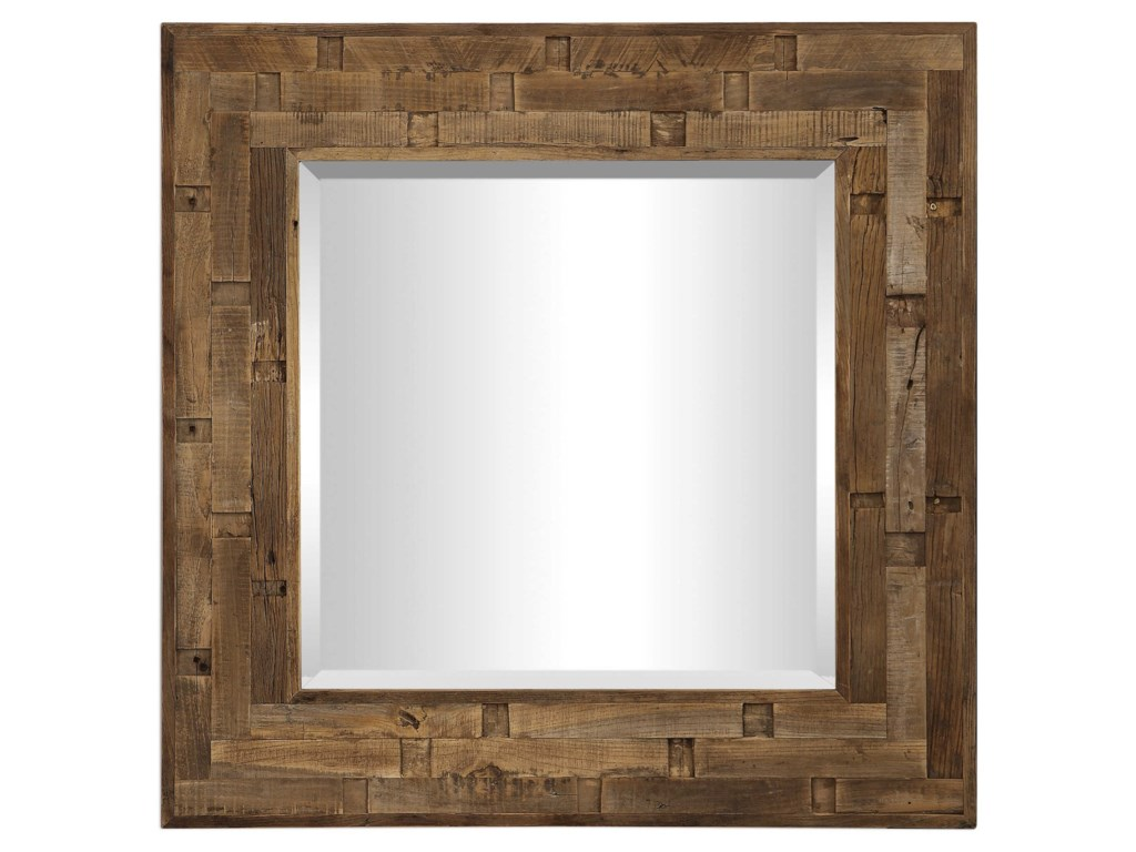 Uttermost MirrorsEmelin Wood Square Mirror