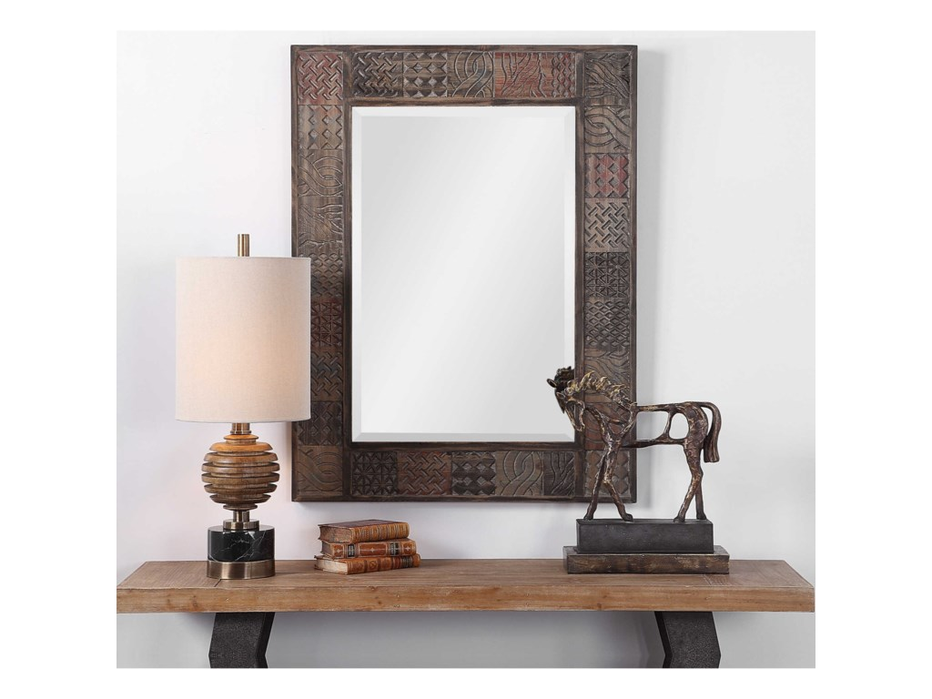Uttermost MirrorsKele Carved Wood Mirror