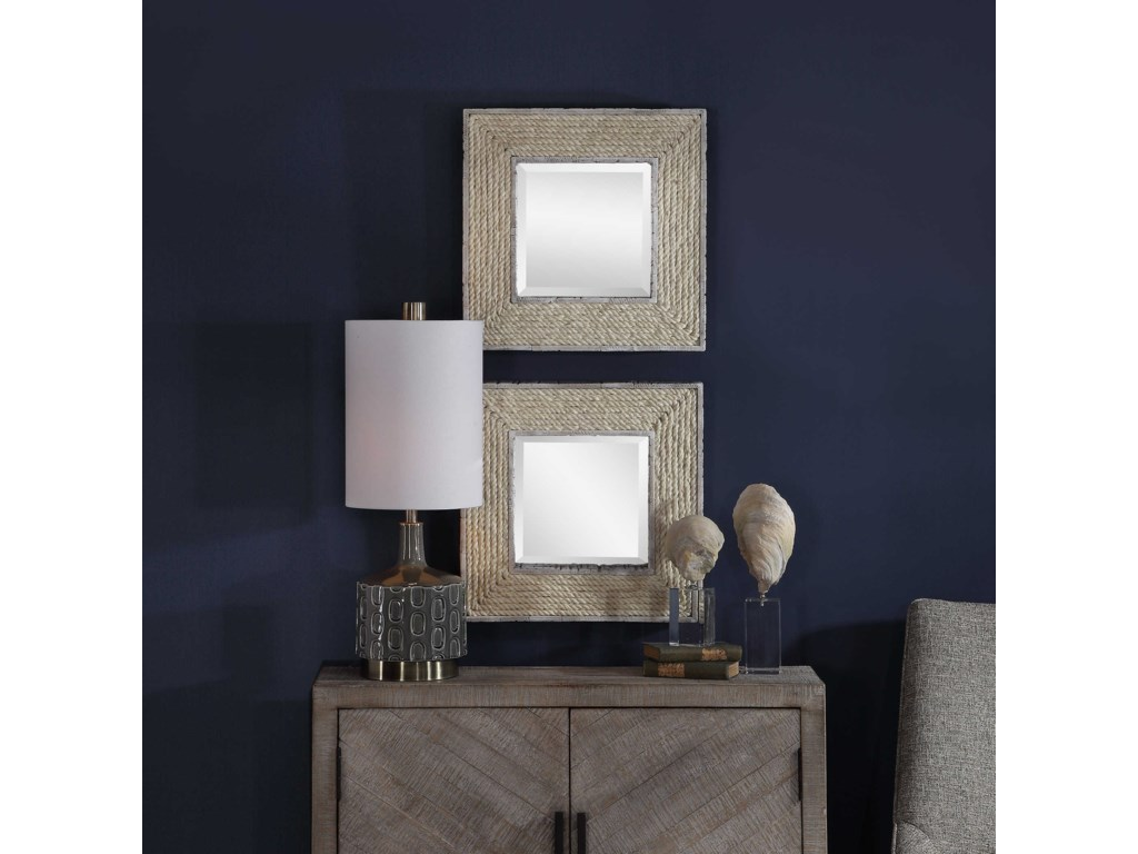 Uttermost MirrorsCambay Square Mirrors (Set of 2)