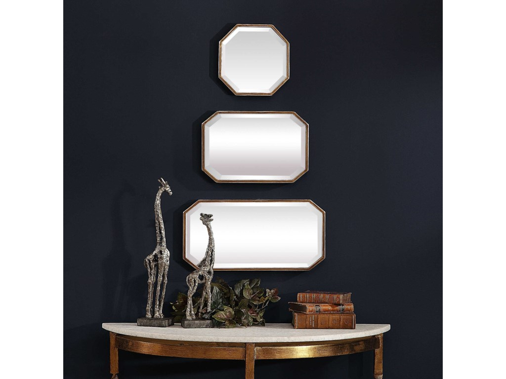Uttermost MirrorsTrois Gold Mirrors (Set of 3)