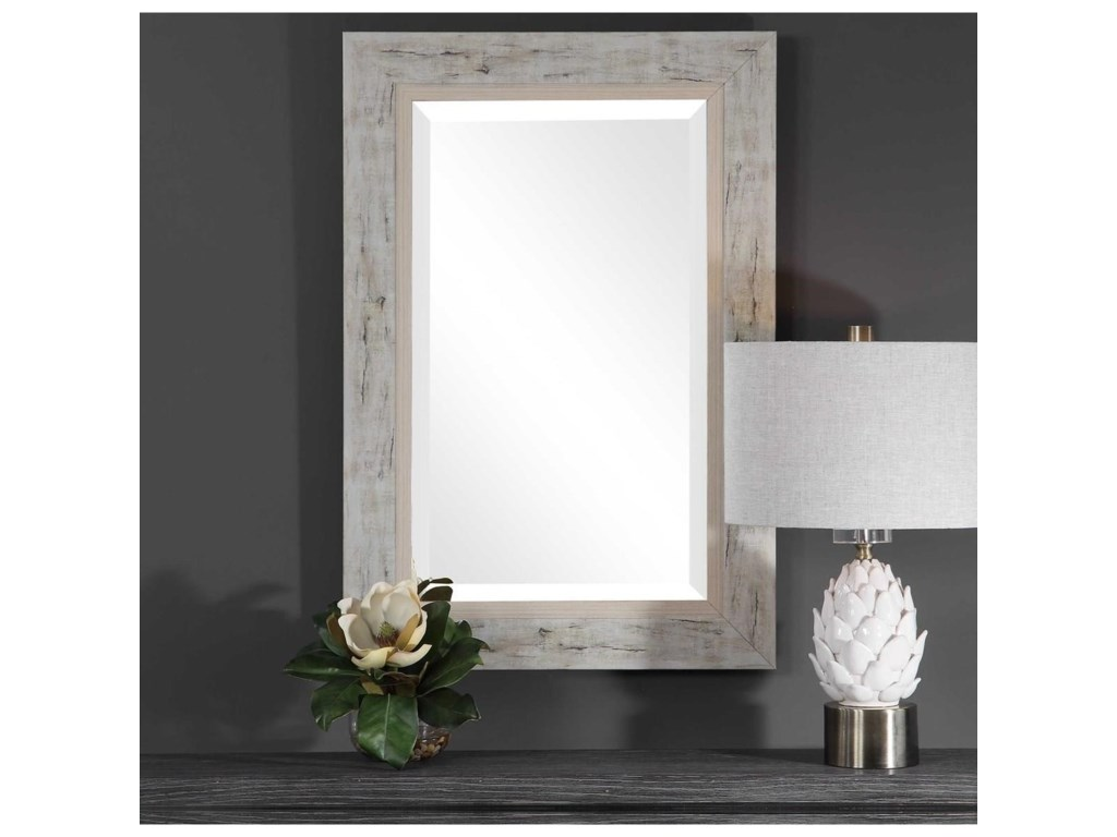 Uttermost MirrorsBranbury Rustic Light Wood Mirror