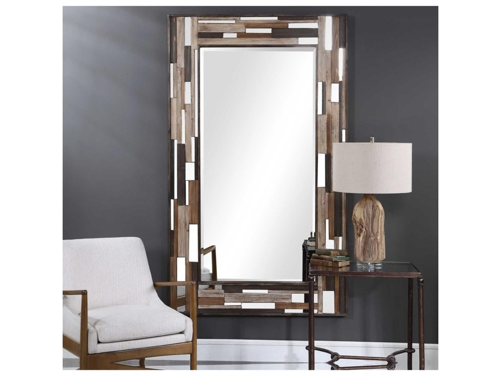 Uttermost MirrorsZevon Wooden Mirror