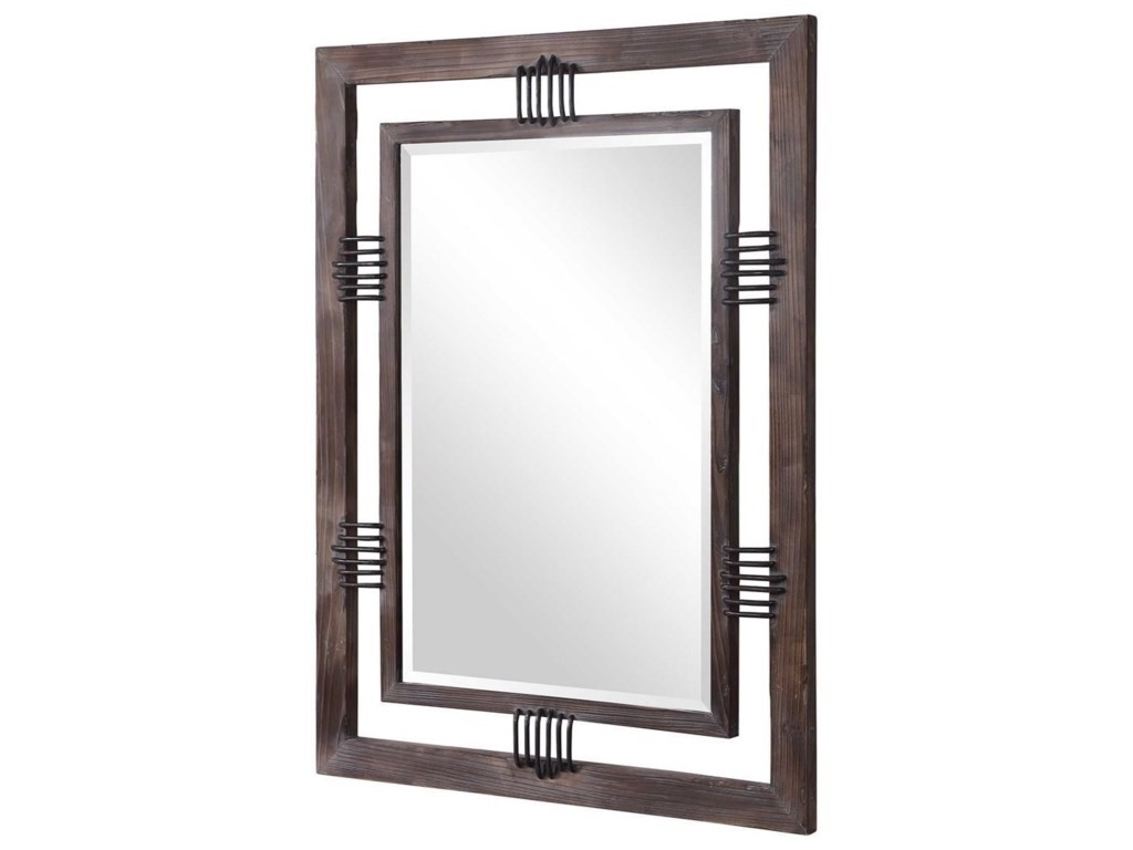 Uttermost MirrorsEbbe Rustic Farmhouse Mirror